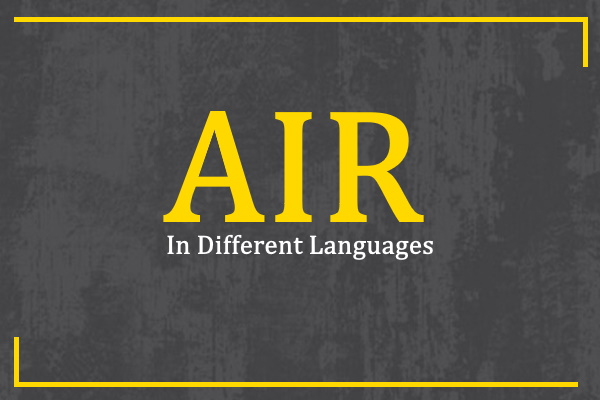 air-in-different-languages
