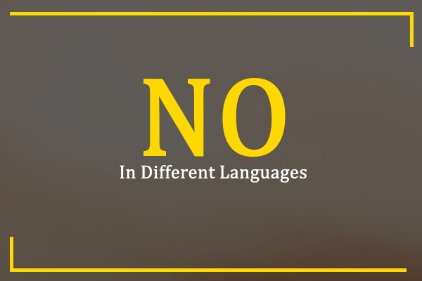 no-in-different-languages
