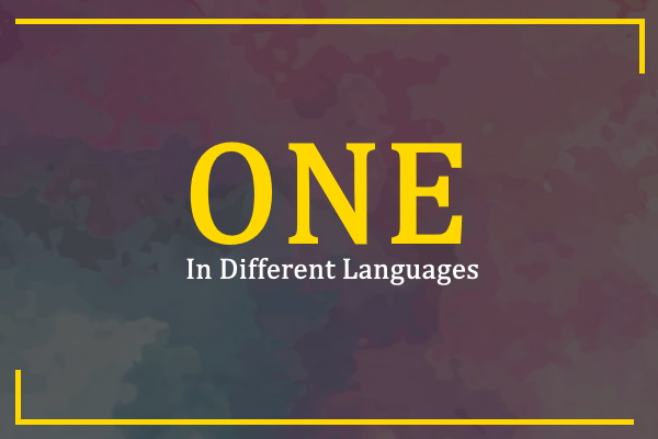 one-in-different-languages