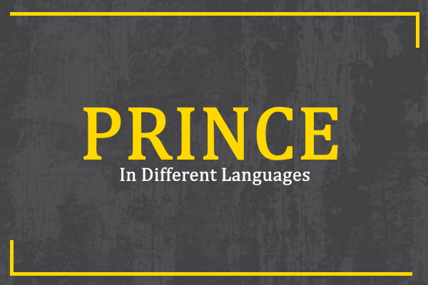 Photo of How to Say Prince in Different Languages