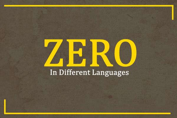 zero-in-different-languages