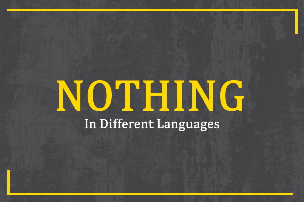 nothing-in-different-languages